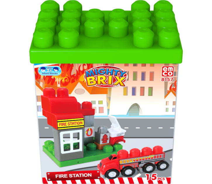 Mighty Brix are blocks specialised for children under the age of 3 with .